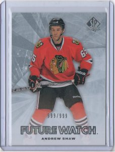 2011-12 SP AUTHENTIC #187 ANDREW SHAW RC