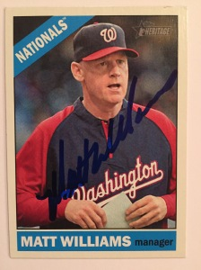 Matt Williams TTM