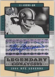 Spurrier 04 Upper Deck NFL Legends Legendary Signatures