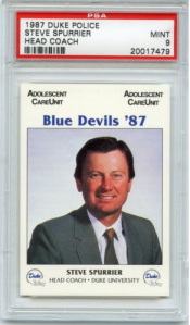 Spurrier 87 Duke Police