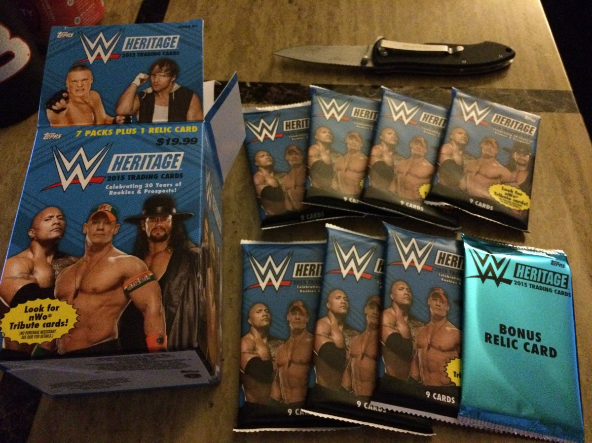 BOX BREAK: 2015 Topps Heritage WWE Blaster #2