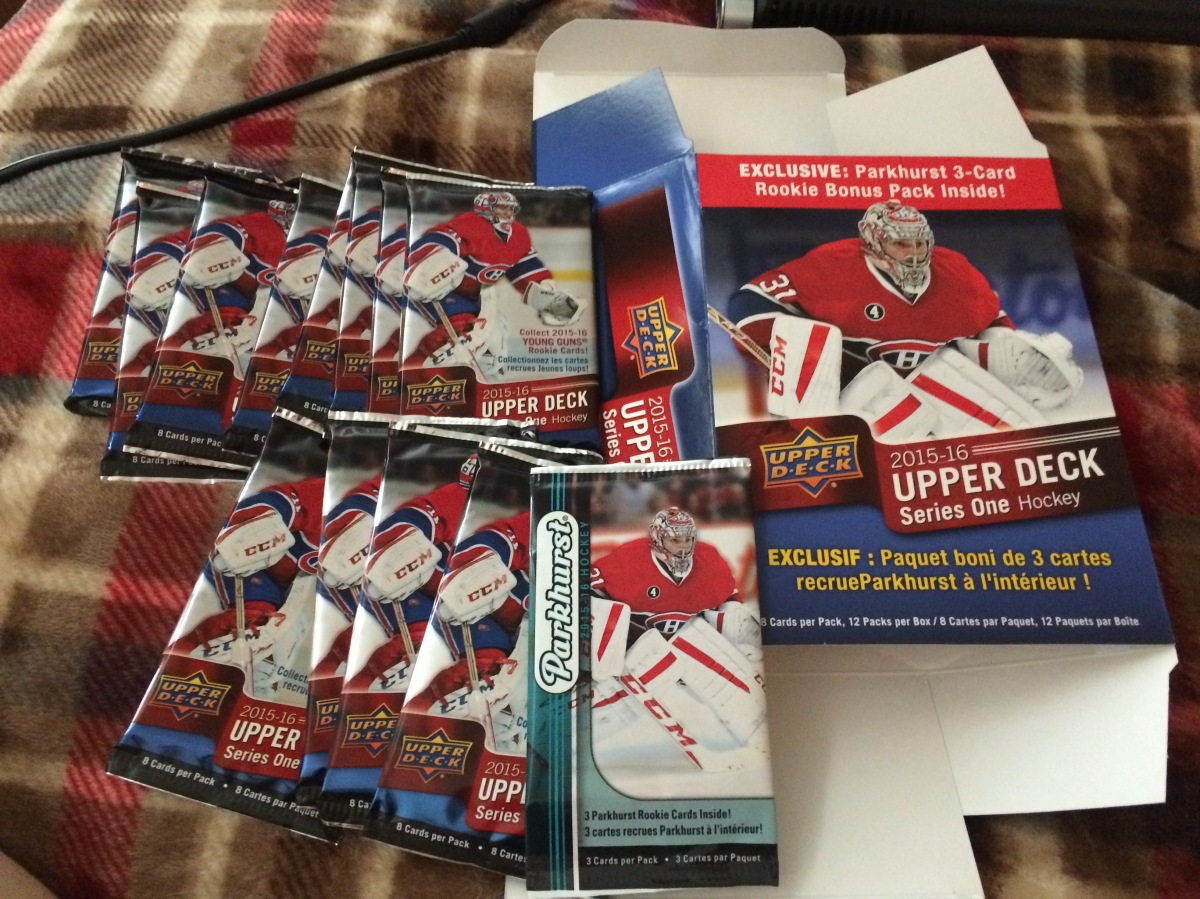 BOX BREAK: Birthday Blaster Fun! 2015-16 Upper Deck Series 1 Hockey
