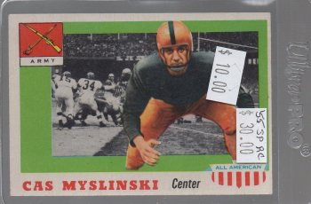 Casimir Myslinski SP #25 1955 Topps All American