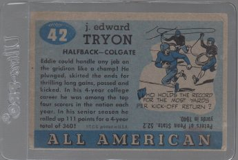 1955 Topps All American #42 Eddie Tryon SP (back)