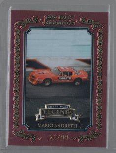 Mario Andretti 2008 Press Pass Legends IROC Champion Gold