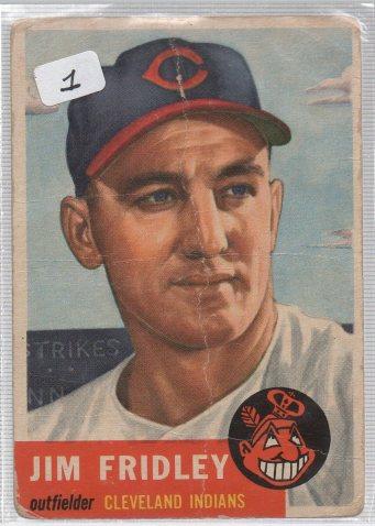 1953 Topps #187 Jim Fridley