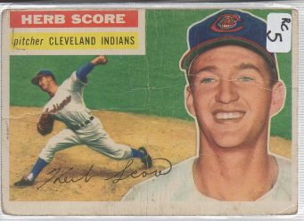 1956 Topps #140b Herb Score RC