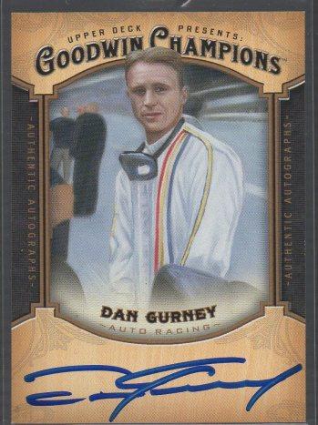 2014 Upper Deck Goodwin Champions - Autographs #A-DG Dan Gurney