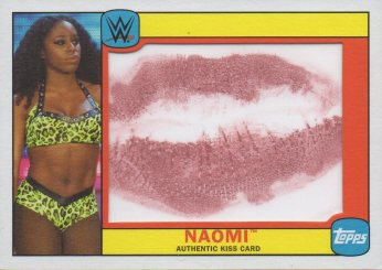 2016 Topps WWE Heritage - Diva Kiss Cards #NNO Naomi #d15/99