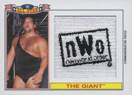 The Giant (Big Show) 2015 Topps Heritage WWE nWo Commemorative Patch NNO #d169/299